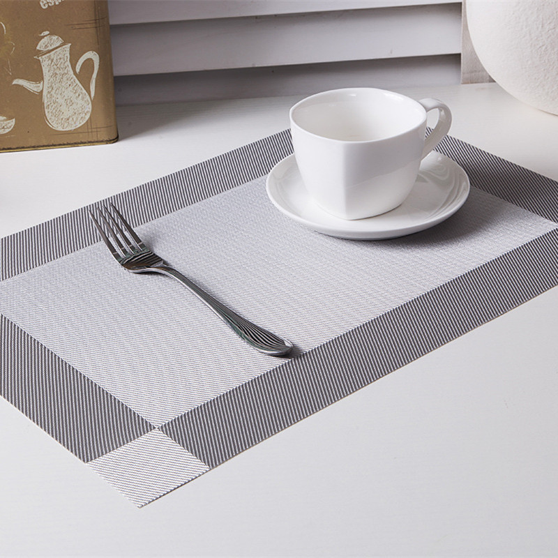 table placemats. aliexpress.com : buy thicken 4pcs/set pvc square dining table placemats gold heat insulation mat coaster bowl pad waterproof cloth from e