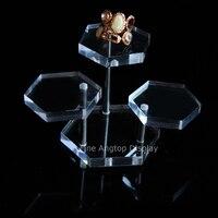 Przezroczysty 3 tier wyświetlacz pleksi akryl oprawa stoiska riser biżuteria naszyjnik bransoletka kolczyki pierścień pokaż rack holder