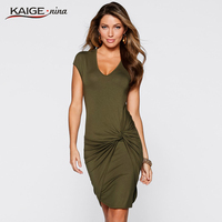 KaigeNina New Fashion Hot Sale Women Waist Clothing Collar Knitted Multiple Colors Dresses Short Sleeved Dress