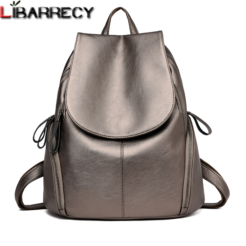 Luxury Brand Leather Women Backpack Large Capacity Travel Backpacks Simple Shoulder Bags For Girls Fashion Fanny Pack Mochila