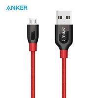 Anker Powerline + Micro USB Премиум прочный кабель [двойной плетеный нейлон] для смартфонов samsung, Nexus, LG, Motorola, Android