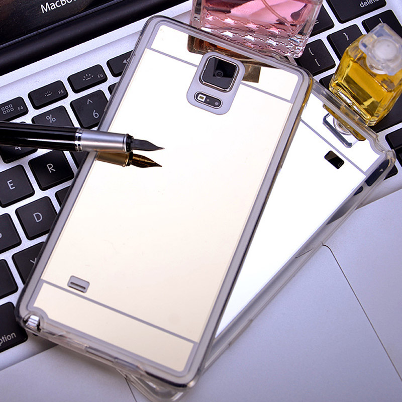 Dreamysow Ultra Slim Luxury Mirror Electroplate Soft TPU Clear Bling Case For Samsung Galaxy S3/4/5/6 S7 Edge Note3/4/5 A5/7/8