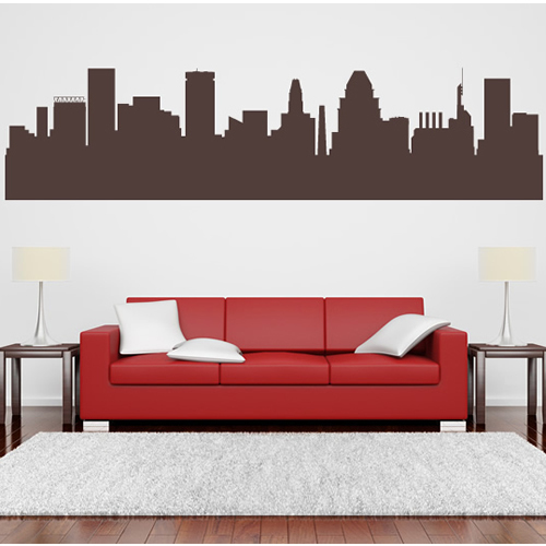 Home Decor Austin: New Arrival Austin Texas Skyline Art Wall Sticker City