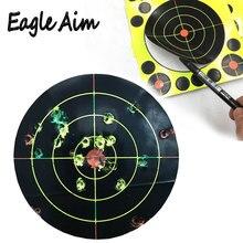 """Cibles de tir fusil à Air comprimé 8 """"X 8"""" Triple couleurs cibles de tir réactives et éclaboussures"""