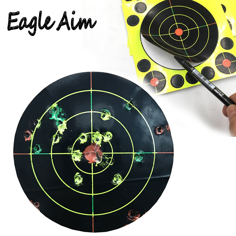"""Gun  Air rifle Shooting targets 8""""X8"""" Triple Colors Reactive & splatter Shooting targets-in Paintball Accessories from Sports & Entertainment"""