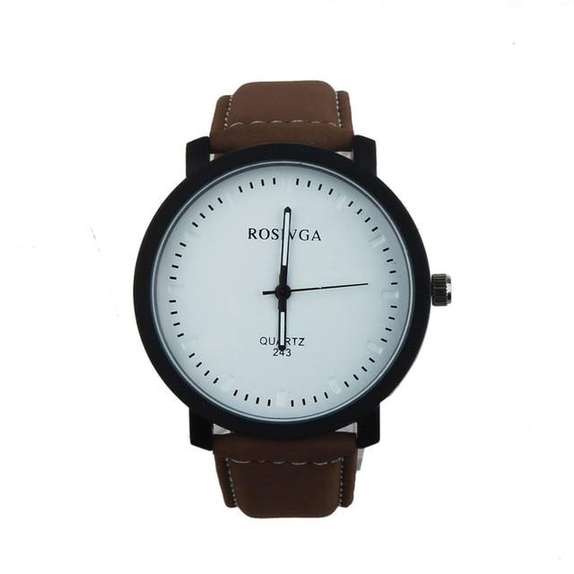 Dropshipping Simple Style Dial Watch Men Leather Wristwatch Women Dress Fashion Quartz Movement Saat relogios masculino  #D