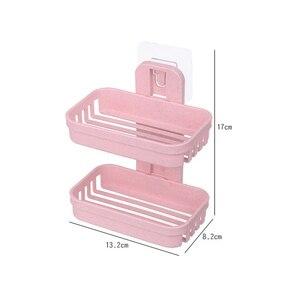 Image 5 - 1 шт. 13,2*8,2*17 см двойной слоёное мыло сливное устройство Держатель присоске мыло коробка ванная комната дома мыльницы двухъярусная вода для ванной корзины мыльница мыльница для ванной коробки мыльницы
