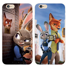 On The For Apple iPhone 5 5S SE 6 6S 6Plus 6s Plus Soft TPU Silicon Transparent Thin Cover Cute Zootopia Phone Case  Bags