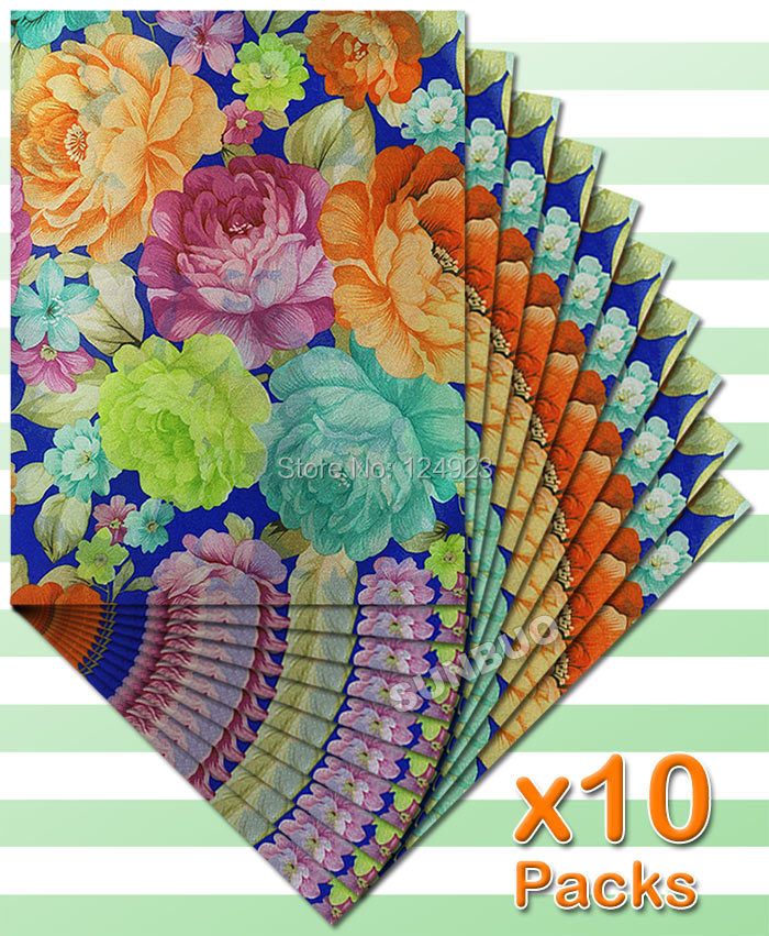 10 packs 20 PCS total Rose floral multicolor African Sego headtie Head Tie Wraps Gele scarf for Aso Ebi Royal blue Lemon green