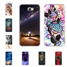 For Huawei Y5 II 2 Cover Soft TPU Silicone Honor 5 Case Fashion Patterned Play Coque
