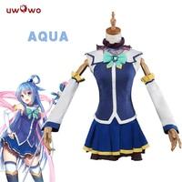 UWOWO Aqua Cosplay KonoSuba God S Blessing On This Wonderful World Costume God S Blessing On