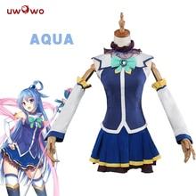 UWOWO Aqua Cosplay KonoSuba Isten áldása ezen a csodálatos világon Gyönyörű Isten áldása ezen a csodálatos világon Aqua Cosplay
