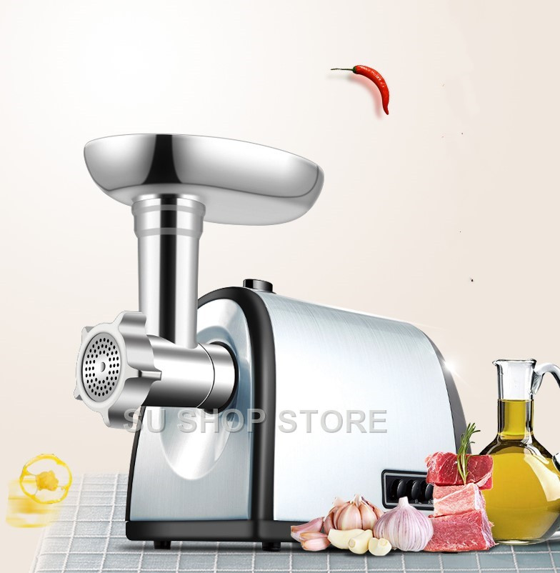 Electric Meat grinder with Exchangeable 3 Cutting Plates Electric Mincer Electric Mincing Machine