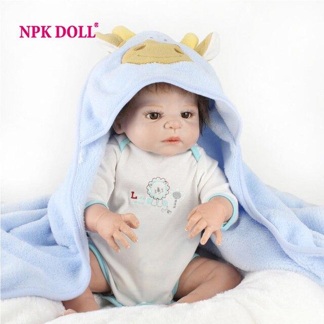 NPKDOLL 55cm Doll Reborn Babies Full Vinyl 22 Inch Soft Silicone BeBe Reborn Toys For Girls Alive Baby Doll For Playhouse Gift