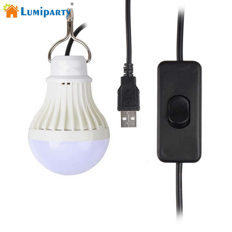 Portable USB LED Light Bulb Dimmable Switch LED Camping Lantern untuk Outdoor Tenda Pencahayaan Darurat Lampu Rumah Lampu Malam