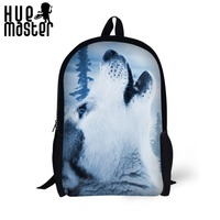 17 inch work design durable backpacks for women animal print girls students backpacks leisure bags school bags book shoulderbags