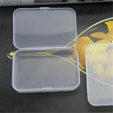 1x Mini Durable Plastic Clear Transparent With Lid Collection Jewelry Necklace Storage Container Case Box Holder Craft Organizer(China)