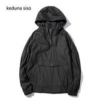 2017 Men Hooded Pullover Black Hoodie Sweatshirts Waterproof Rain Windbreak Hoodies Lightweight Sweatshirt Sudadera Hombre