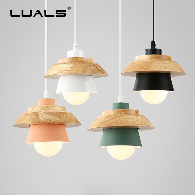 Nordic Hanging Lamps Wood Modern Pendant Lights Art Suspension Luminaire LED Light Fashion Metal Lamp Shade Pendant Lighting 2016 new luminaire lamparas pendant lights modern fashion crystal lamp restaurant brief decorative lighting pendant lamps 8869