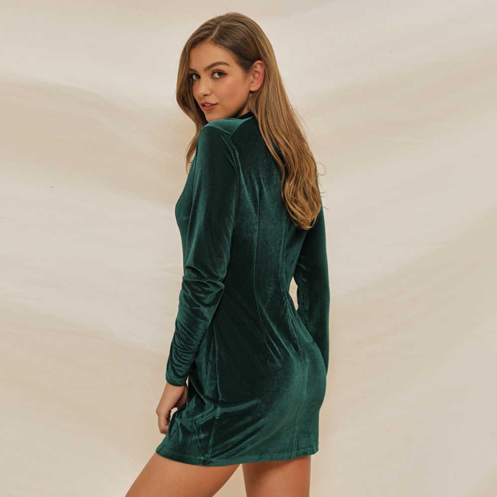Женское платье Дамское Клубное сексуальное модное вечернее с круглым вырезом Стильное с длинными рукавами