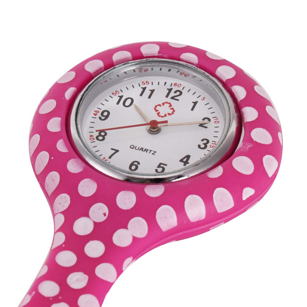 Nurse Gift Watches Printed Style Clip-on Fob Brooch Pendant Pocket Hanging Doctor Nurses Medical Quartz Watch LXH