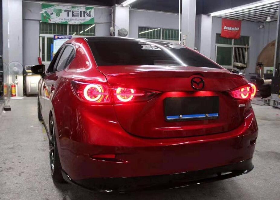 Dynamic Car Styling for Mazda 3 TailLights 2014~2017 Mazda3 Axela signal mazda3 Tail Light DRL+Brake+Park+dynamic turn signal