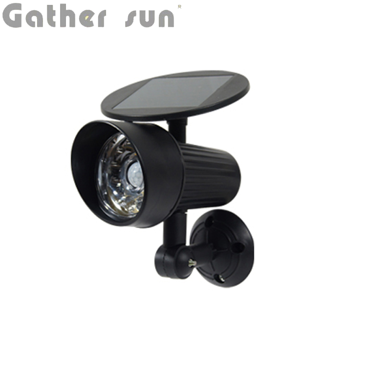 GatherSun LED Solar Wall Light ABS Body Fake Camera PIR Sensor Spotlight Outdoor IP44 Protection Level For House Security Lamp