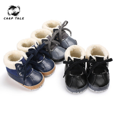 Winter Sweet Newborn Baby  Winter Boots First Walkers Soft Soled Infant Toddler Kids Girl Footwear Shoes 2019 toddler shoes