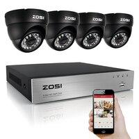 ZOSI 960H 8CH H 264 DVR 4x 1 3 CMOS IR Cut Day Night Waterproof Outdoor