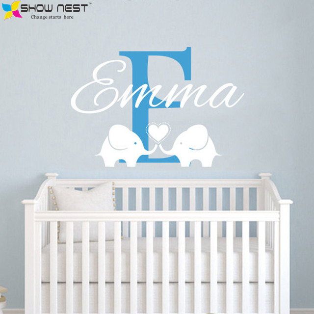 Custom Childrens Name Elephant Wall Decal - Name Vinyl Wall Sticker - Elephant Wall Mural Baby  sc 1 st  AliExpress.com & Custom Childrens Name Elephant Wall Decal Name Vinyl Wall Sticker ...