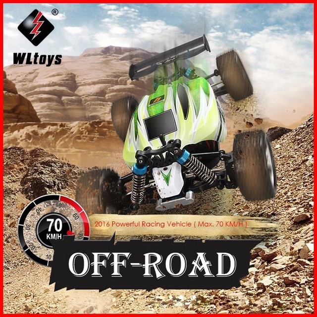 70KM/H RC Car WLtoys A959 2.4G 1/18 Scale Remote Control Off-road Racing Car High Speed Stunt SUV Toy Gift For Boy RC Mini Car