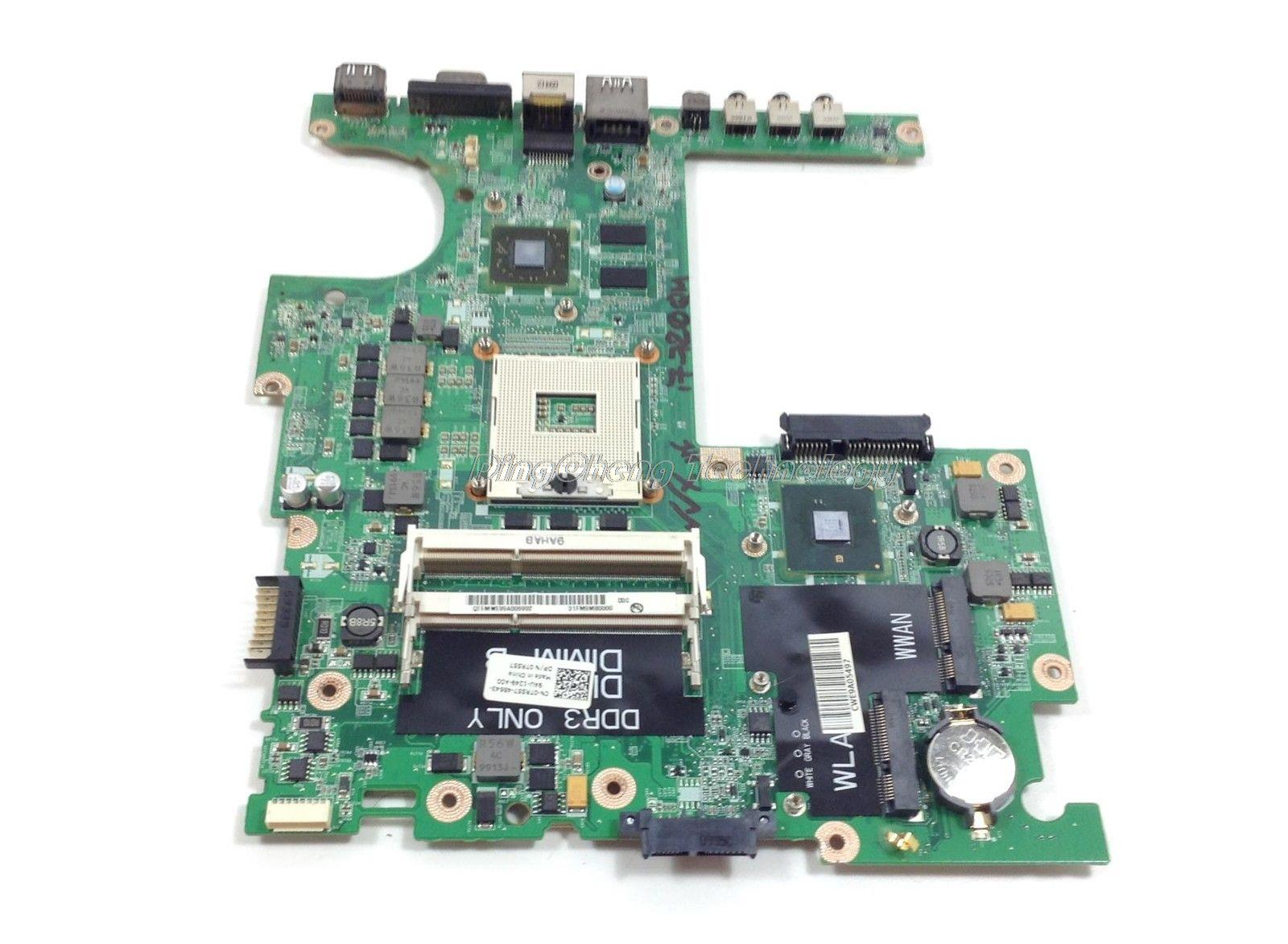 SHELI laptop Motherboard for dell studio 1557 0TR557 CN-0TR557 DA0FM9MB8D1 with 4 video chips non-integrated graphics card