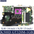 KEFU K40ID материнская плата для ноутбука ASUS K50ID K40IE K50IE оригинальная материнская плата DDR3-RAM GT320M-1GB