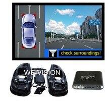 360 Graus Vista pássaro Registro DVR Carro, Sistema de estacionamento, All round Câmara de Visão traseira para Toyota RAV4 Highlander Reiz Crown Camry