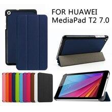T2 7.0 Elegante de la cubierta Protectora del caso Para Huawei MediaPad de Imitación de Cuero de la Tableta De HUAWEI BGO-DL09 BGO-L03 + REGALOS GRATIS