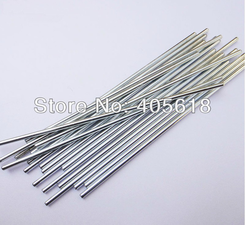30pcs 1.5MM axis diameter length 100mm Toys car axle iron bars stick drive rod shaft coupling connecting shaft
