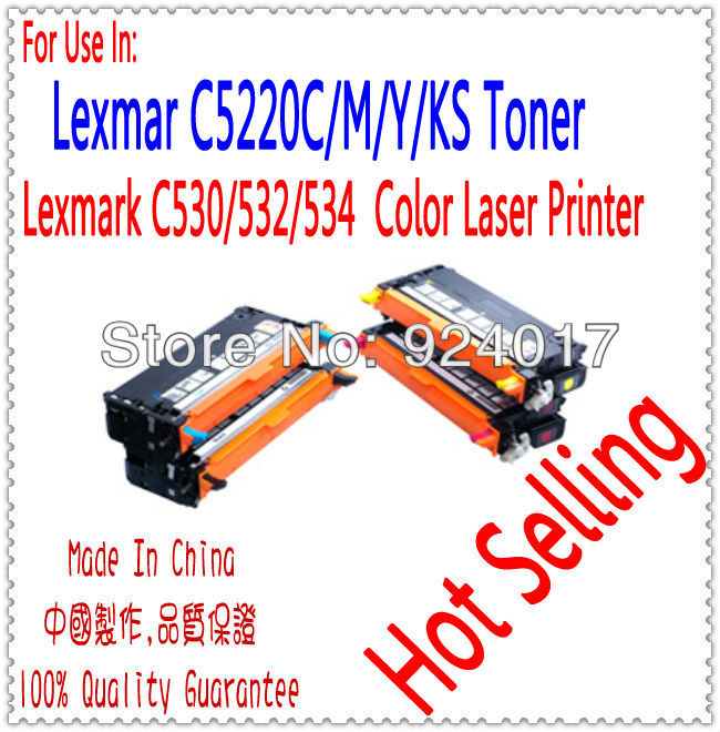 For Printer Lexmark C530DN C532DN C532N C534 C534DN C534DTN C534N Toner Cartridge,For Lexmark C530 C532 C534 530 Toner Refill compatible toner lexmark c930 c935 printer laser use for lexmark refill toner c940 c945 toner bulk toner powder for lexmark x940