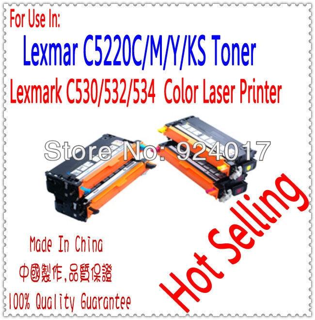 For Printer Lexmark C530DN C532DN C532N C534 C534DN C534DTN C534N Toner Cartridge,For Lexmark C530 C532 C534 530 Toner Refill compatible printer lexmark x940 x945 x940e x945e refill toner cartridge for lexmark x945x2kg x945x2cg x945x2mg x945x2yg toner