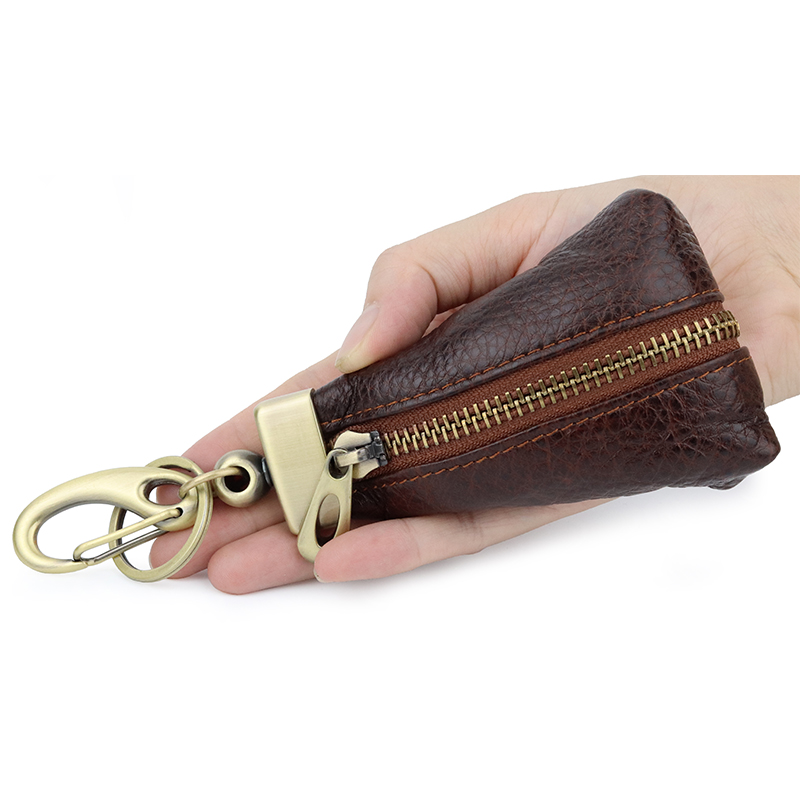 COMFORSKIN New Arrivals Real Leather Men Car Key Wallet Business Multi function High Quality Cowhide Leather Key Chain Wallet in Key Wallets from Luggage Bags