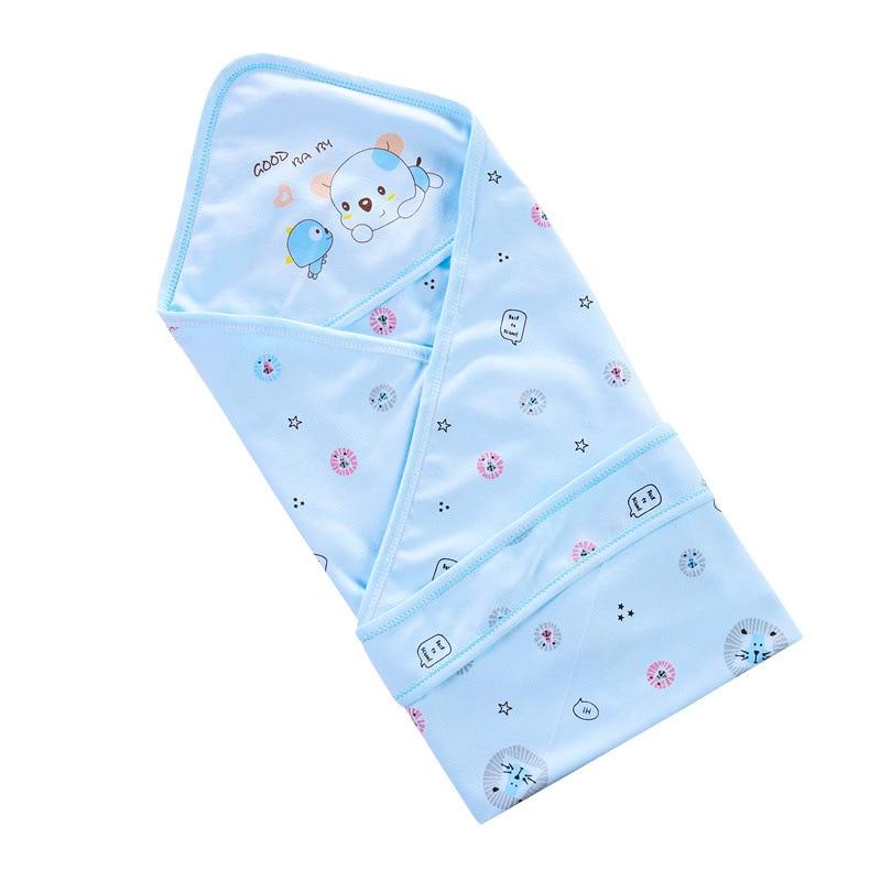 Spring Cotton Infant Baby Sleeping Quilt Envelope For Newborns Baby Bedding Wrap Sleepsack Cartoon Baby Blanket Summer Swaddle