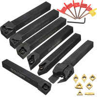 7Pcs 12mm CNC Lathe Turning Tool Holder Boring Bar With DCMT TCMT CCMT Cutting Insert with Wrench