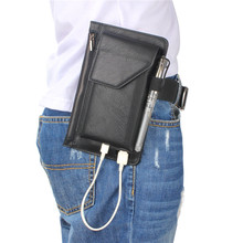 Multifunctional Pu Leather Climbing Waist Zipper Bag Mobile Phone Case Charging Purse Cover Universal For Iphone