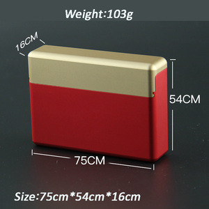 Image 3 - 18 otworów rękaw ochronny papierośnica ze stopu aluminium dla IQOS przechowywanie papierosów pudełko Mental Box