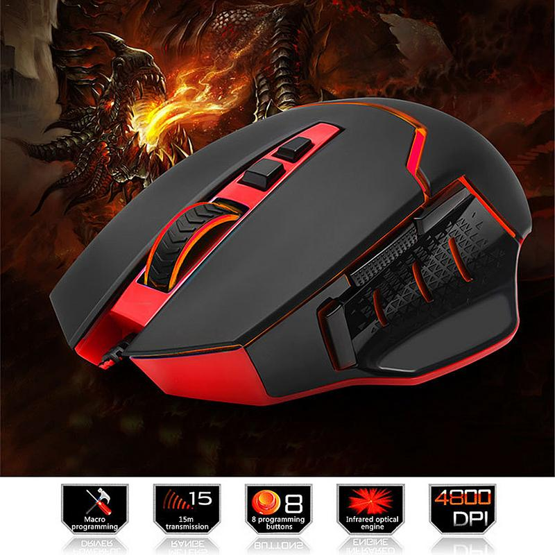 Professional wired gaming mouse 10 button 4800 DPI LED optical USB computer wireless mouse game player mouse office mouse цена и фото