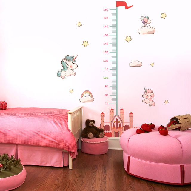 Measure Height Gauge baby Wall Sticker bedroom wall sticker for kids rooms stickers Decor Wall Decals Art Growth Chart Nursery