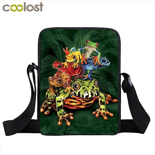 75b75052e54 Cool Reptielen Dier Messenger Bag Snake/Cobra/Hagedissen/Cameleon/Kikkers  Schoudertassen Vrouwen