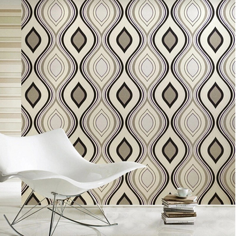 beibehang Abstract geometric striped modern non woven wall covering living room TV background mural wallpaper roll papel de pare beibehang black mosaic non woven wall paper roll modern embossed flocking wallpaper for living room tv background mural flooring