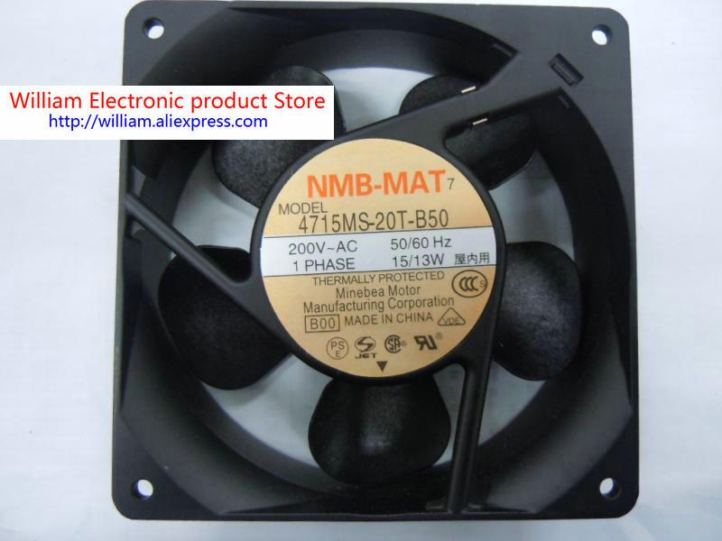 New Original NMB 4715MS-20T-B50 120*38MM AC 200V 13/15W axial cooling fan new 4715ms 23t b50 12cm 12038 230v 15w dc cabinet cooling fan for nmb 120 120 38mm