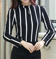 Blusa De la raya tallas grandes Mujer Blusas Camisa femenina 2015 Ropa De Mujer otoño invierno Blusas De Renda feminino mujeres Tops Vestidos