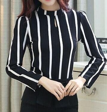 Stripe Blusa Plus Size Women Blouses Camisa Feminina 2015 Ropa Mujer Autumn Winter Blusas De Renda feminino Women Tops Vestidos